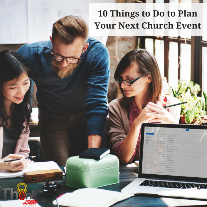 10 Things to Do to Plan Your Next Church Event