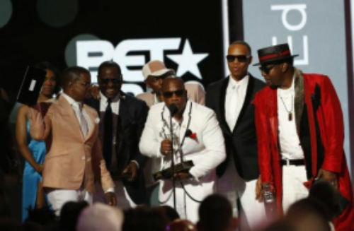 Celebrities during BET Awards 2017 giving Honor to God